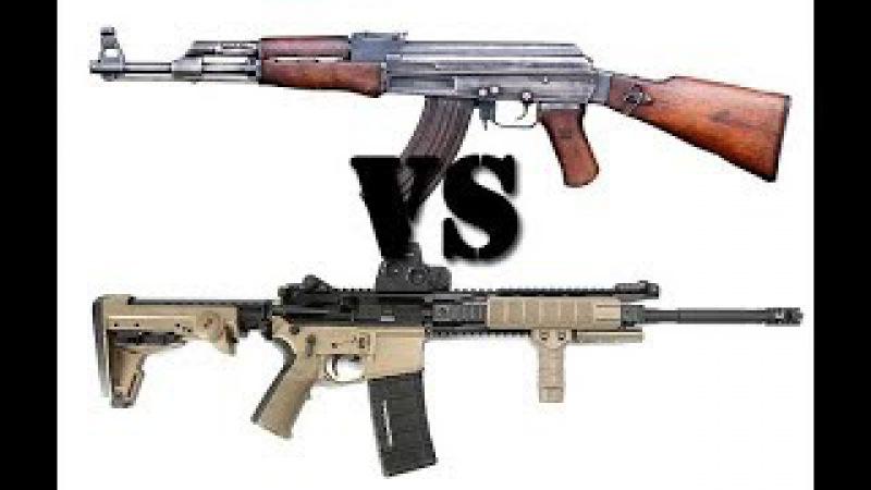 Американец хвалит АК 74 и обсирает AR-15 M- 16