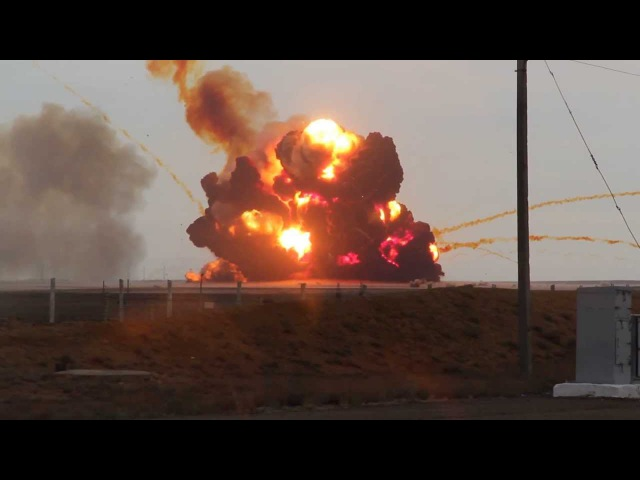 Proton M Rocket Explosion 02/07/2013