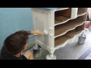 Painting, Staining, and Wood Stain Glazing a Provincial Dresser Makeover