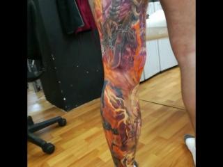 Blizzard leg, Diablo, Worldofwarcraft, WoW tattoo