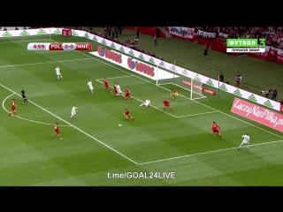 Польша 1:0 Черногория    Гол Манчинськи