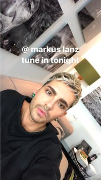 Bill Kaulitz Instagram Stories - 07.03.2017 @ Markus Lanz, ZDF