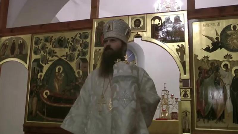 Проповедь еп. Силуана в праздник Богоявления. г. Колпашево 19.01.14г.