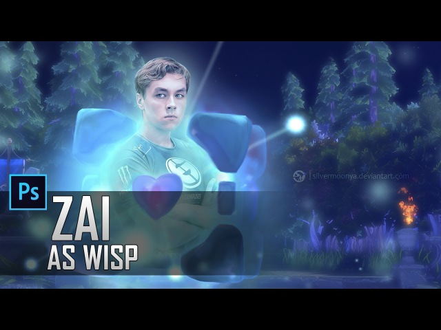 Zai as Wisp | Photoshop speed art