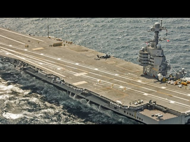 BRAND NEW $13 billion SUPERCARRIER USS FORD (CVN 78) conducts FLIGHT DECK QUALIFICATION operations!