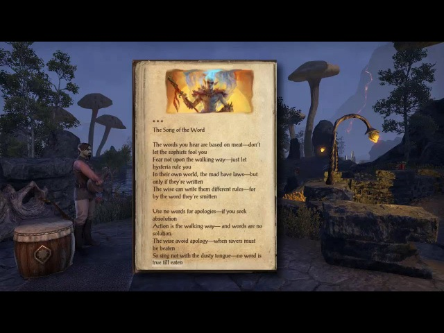 ESO Morrowind's 6 New Songs: Male Bard with lyrics