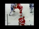 Pavel Datsyuk wins a faceoff and Hull scores vs Leafs (2003)