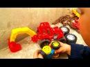 Мультфильмы про машинки авто мастерская мультик про трактор самосвал бульдозер