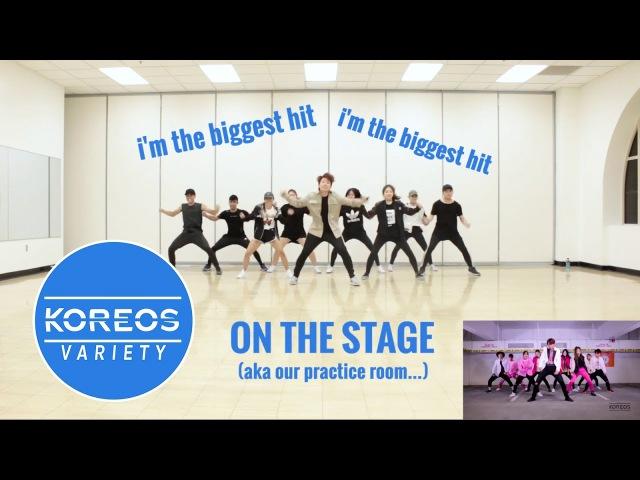 Koreos Variety EP 44 2X Faster Dance Challenge Red Velvet Red Flavor NCT 127 Cherry Bomb