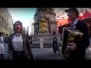 Русский флешмоб в центре Вены Майский вальс