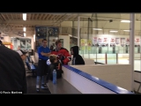 Justin and Selena Gomez at the Los Angeles Kings Valley Ice Center in Panorama City California