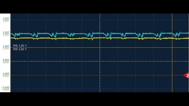 Осциллограмма Voltage Booster