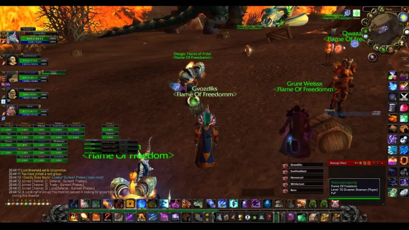 World of Warcraft [Flame of Freedom] Gvozdiks Mage Playing SWP Trying Learning