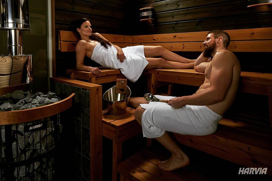 Парная в сауне, отделка парной, древесина для бани, купить оборудование Harvia