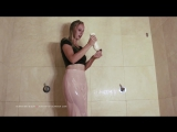 Emily fully clothed shower
