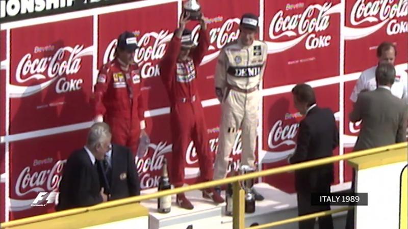 Подиум Гран-При Италии 1989