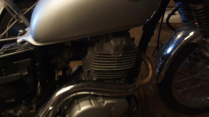 Honda CL400 350км 20лет простоя первый пуск