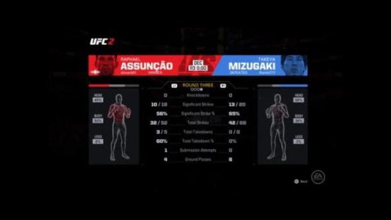 UFL 23. BW. RAPHAEL ASSUNÇÃO Dimank91 vs TAKEYA MIZUGAKI Rombi777