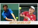 Gilles Simon vs Yoshihito Nishioka 2017 Davis Cup Highlights France vs Japan
