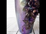 Mixed Media - altered vase - tutorial by Ola Khomenok