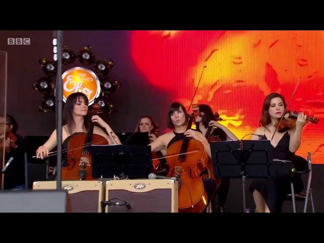 Showdown Jeff Lynnes ELO Live with Rosie Langley and Amy Langley, Glastonbury 2016