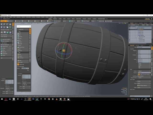 Barrel Modeling Tutorial MODO, ZBrush, Substance Painter, Unity - Part 3