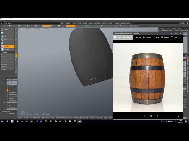 Barrel Modeling Tutorial - MODO, ZBrush, Substance Painter, Unity - Part 1