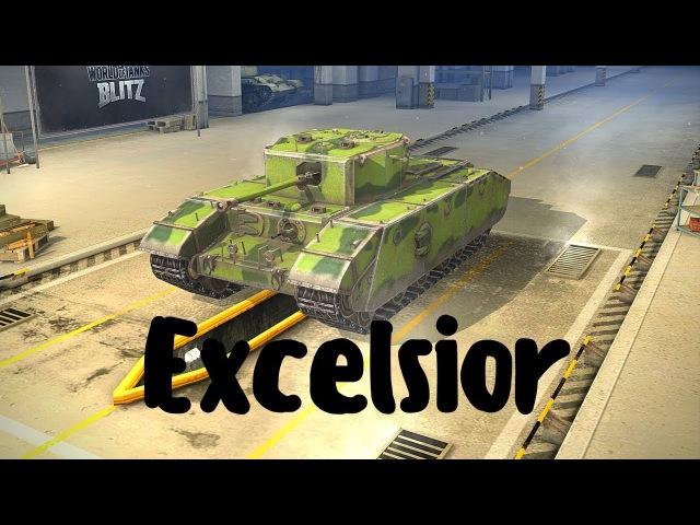 Excelsior (прем танк 5 уровня). World of Tanks Blitz. Летсплей