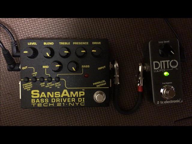 Tech 21 NYC SANSAMP BASS DRIVER DI Ver.2 Bass Sound Demo