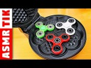 EXPERIMENT Waffle Iron vs Fidget Spinner Toys! ASMR Video with Freak Family Baby Victoria!