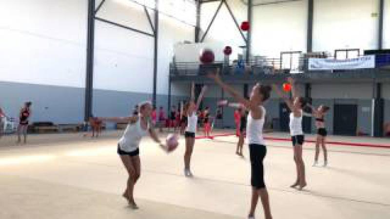 Сборы для гимнасток по художественной гимнастике с Екатериной Пирожковой, Франция, Монпелье. Часть 3