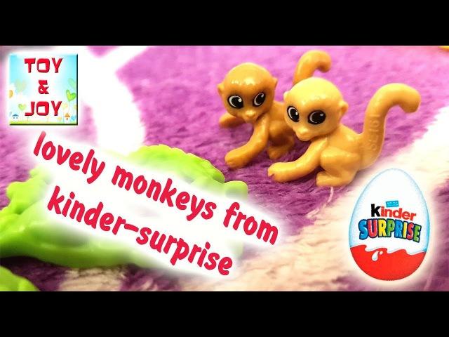 LOVELY Monkeys. KINDER SURPRISE EGG opening. Киндер сюрприз распаковка.