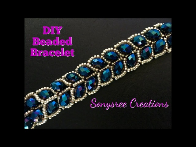 Beaded Leafy Bracelet 🌿 DIY Easy Tutorial