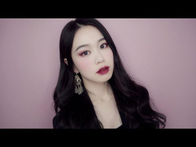 🍷와인빛 버건디 메이크업🍷ㅣso hyeon 소현ㅣburgundy makeup