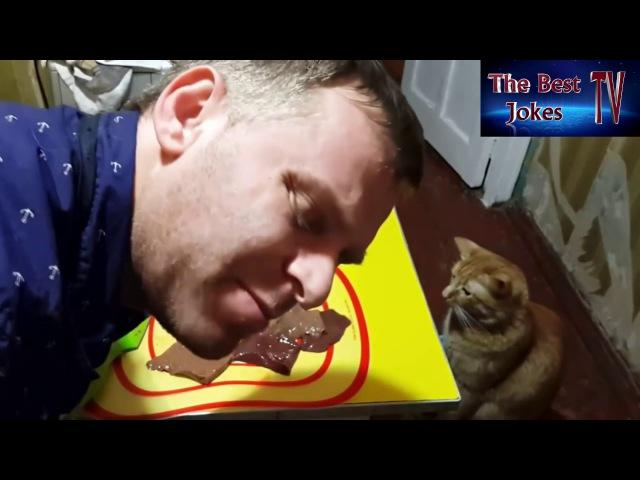 Самвел Адамян и его кот Томас