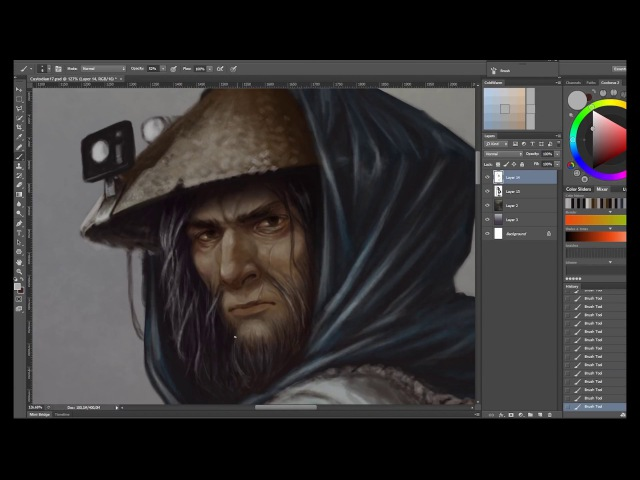 Custodian - fast sketch in timelapse