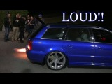 LOUD Audi S4 B5  ANTI-LAG Sound &amp FLAMES