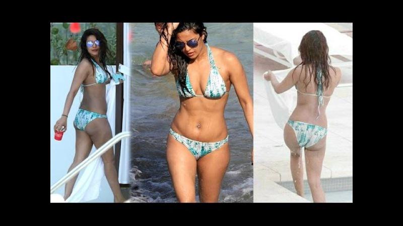 Priyanka Chopra Sizzles In Miami Beach In Skimpy Blue Bikini