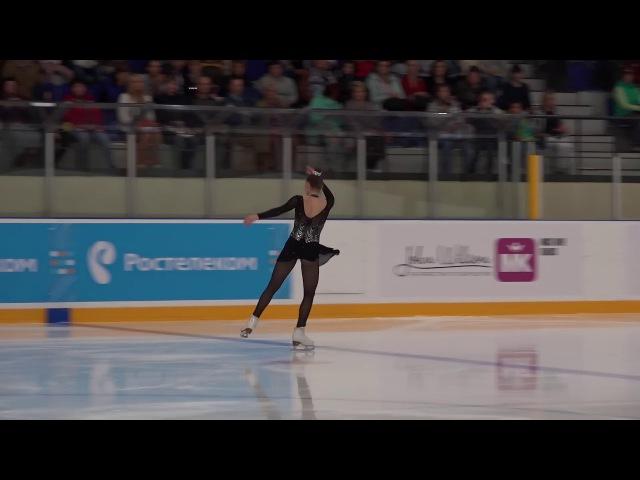 Кубок России Ростелеком 2017 2018, 1 й Жeнщины, MC ПП 11 Екатерина ГУСЕВА СПБ