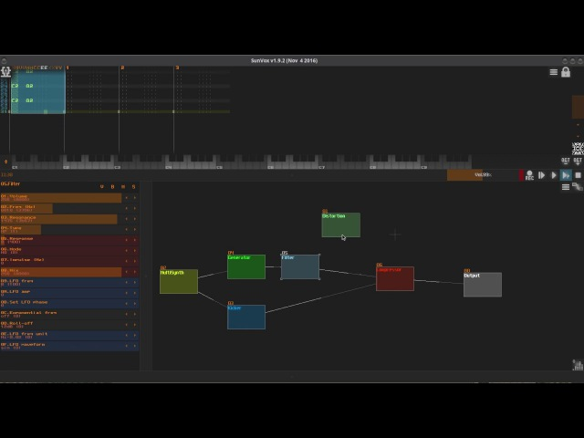 SunVox: Way to make your low 808 kick, more interesting