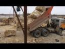 КамАЗ 55111 выгрузка камней