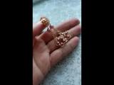 Серьги-звездочки плетеные из бисера.