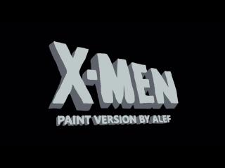 Заставка X-Men, нарисованная в Paint (VHS Video)