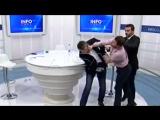 Драка в прямом эфире косовского ТВ