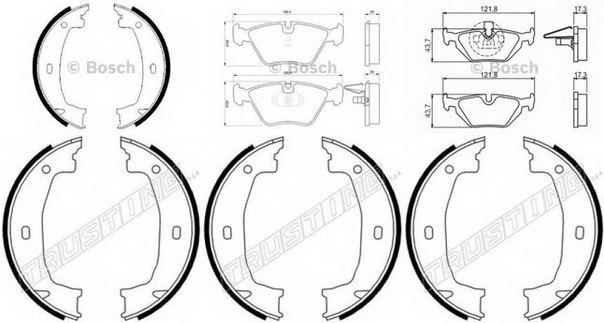 Комплект тормозных колодок для BMW Z4 купе (E86)