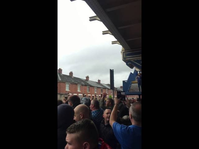 Linfield Vs Rangers - Under the bridge before Kickoff