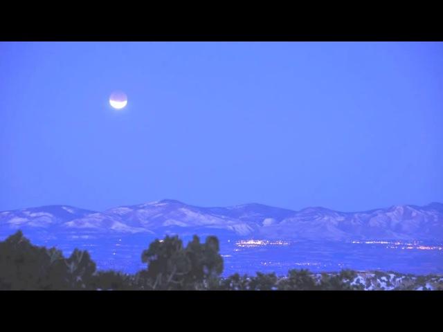 Неправильное Лунное затмение на рассвете - почему тень от Земли закрывает Луну с...