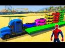 Мультики про Машинки и Человек Паук Цветные Машинки и Супергерои Мультик для Де ...