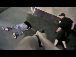 Копы застрелили непослушного нигера . США