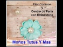 FLOR CORAZON Paso a Paso HEART FLOWER AND PEARL CENTER Tutorial DIY How To PAP Video 155